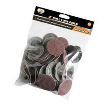 """IIT 82042 2"""" Roll Lock Sanding Discs 180 Grit"""