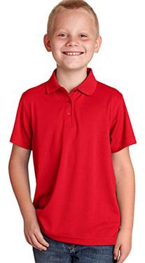 8210Y UltraClub® Youth Cool & Dry Mesh Piqué Polo