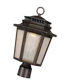 Minka Lavery 8276-A357-L 1 Light Outdoor Post Lantern, Iron