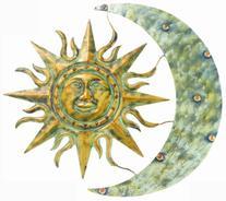 """Gardman 8415 Aztec Sun and Moon Wall Art, 26"""" Long x 24"""""""