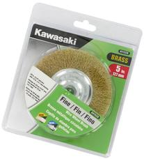 Kawasaki 841528 Fine Wire Wheel Brush, 5/8-Inch Bore with 1/