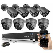 Amcrest 960H 8CH 1TB DVR Security Camera System w/ 4 x 800+