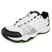 Prince Kids' 8P310149-T22 Jr Tennis Shoe,White/Black/Green,1