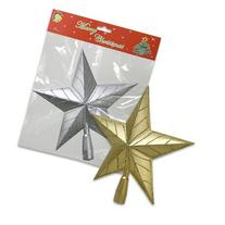 "9.25""H Star Tree Topper with Glitter Christmas Tree"