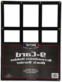 BCW 9 Card Screwdown Holder - Black Border - Baseball,