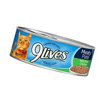 9Lives Meaty Paté With Real Chicken Wet Cat Food, 4/5.5-