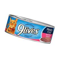 9 Lives Prime Entree with Real Salmon Cat Food, 5.5 Ounce