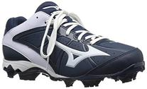 Mizuno Women's 9 Spike ADV Finch Elite 2 Fast Pitch Molded Softball Cleat, Navy/White, 8.5 M US