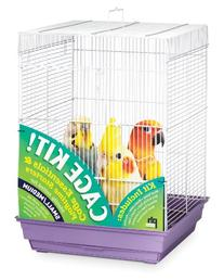 Prevue Hendryx 91210 Square Roof Bird Cage Kit, White and