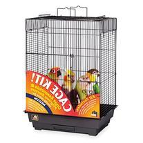 Prevue Hendryx 91351 Square Roof Bird Cage Kit, Black