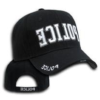 9383Police Raised Embroidery Cap