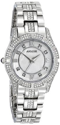 Bulova Women's 96L116 Stainless Steel and Mother-of-Pearl