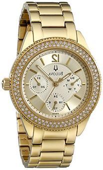 Bulova Women's 97N102 Multi-Function Crystal Bracelet Watch