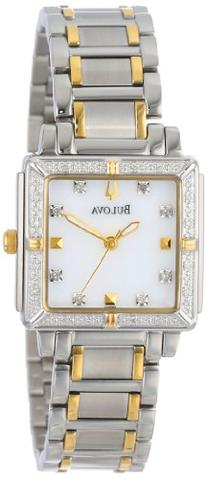 Bulova Women's 98R112 Diamond Accented Two-Tone Stainless