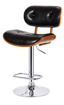 Boraam 99430 Smuk Adjustable Swivel Stool, Black