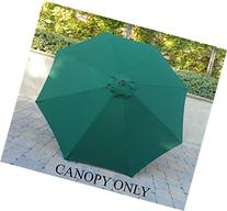 9ft Replacement Canopy 8 ribs in Hunter Green
