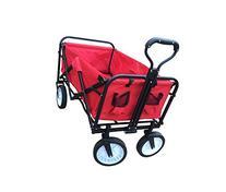 ABO Gear Collapsible Folding Utility Wagon Garden Cart Shopping Buggy Yard Beach Cart Red