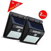 AGPtEK® Solar Powered Wireless LED Security Motion Sensor