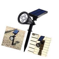 AGPtEK Waterproof 200 Lumens Solar LED Spotlight for Garden