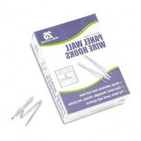: Panel Wall Wire Hooks, Silver, 25 Hooks per Pack -:- Sold