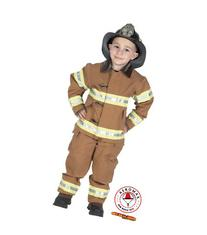 Jr. Fire Fighter Suit Child Costume Tan - Medium