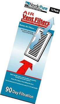 Air Vent Filters 1 Pack of 12- 4x12  - by Nordic Pure
