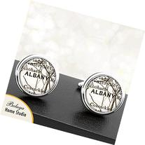 Albany NY Antique Circa 1900's Map Cufflinks Handmade City
