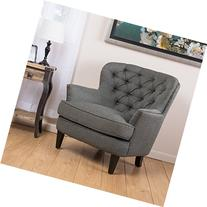 Alfred Tufted Grey Fabric Club Chair