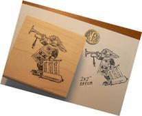 """Alice in Wonderland's Rabbit Rubber Stamp Wm 2x2"""" P13"""