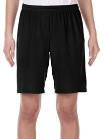 "All Sport for Team 365 Youth Mesh 9"" Short, XL, BLACK"