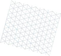 Alvin 1242-5 Isometric Paper 100-Sheet Pack 8.5 inches x 11
