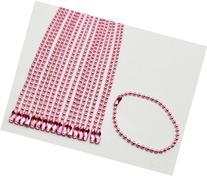 Amanaote Pink 2.4 mm Diameter Ball Chain 145 mm Length Metal