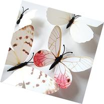 Amaonm 24pcs 3d Vivid Special Man-made Lively Butterfly Art