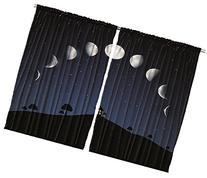 Ambesonne Classroom Decor Phases of Moon and Stars Outer