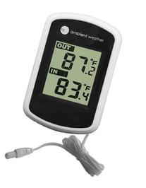 Ambient Weather Compact WS-02 Indoor/Outdoor Thermometer