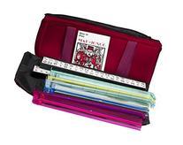 American Mahjong Set in Burgundy Bag, 4 Color Pushers Racks