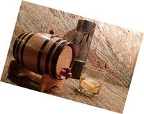 American Oak Barrel with Black Hoops- 2 Liter or .53 Gallons