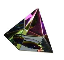 Amlong Crystal Iridescent Pyramid Rainbow Colors With Gift