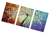 Amoy Art- Hand Painted Knife Modern Canvas Wall Art Floral