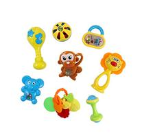 Animal Fun 8 Piece Baby Rattle and Teether Toy Play Set in