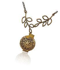 Bird and Tree Branch Bronze-tone Brass-tone Charms