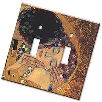Art Plates - Klimt: The Kiss II Switch Plate - Double Toggle