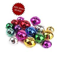 Aspire Multi-color Snowflake Bells with Stars Cutout, 30mm,