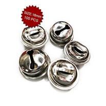Aspire Silver Crafted Ringing Bells, Shiny Ornaments, 18mm,