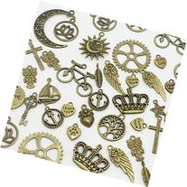AuroTrends 100-piece Mixed Charms Pendants Cross,tree of