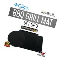BBQ Grill Mat - Set of 3 - Easy Barbeque Grilling Bake Non-