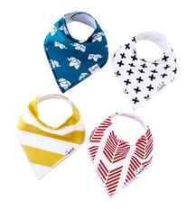 Baby Bandana Drool Bibs for Drooling and Teething 4 Pack