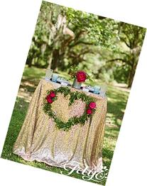 BalsaCircle 60x102-Inch Gold Rectangle Tablecloth for