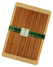 Bamboo Cutting Board with Beautiful White Edges. Measures