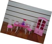 Barbie Size Dollhouse Furniture- Dinning Room with 4 Chairs